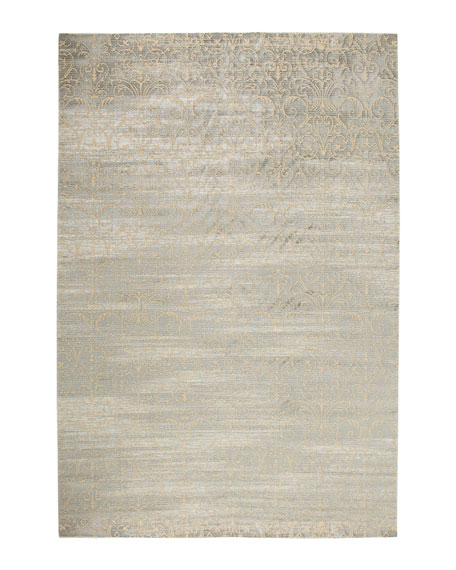"Courtly Blue Rug, 9'3"" x 12'9"""