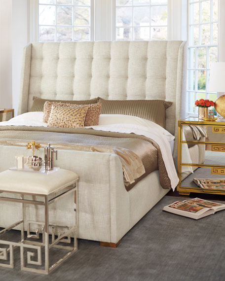 Continental Tufted King Bed