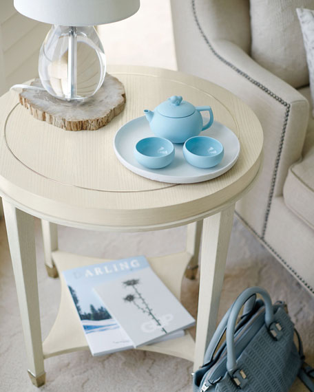 Louie Round Ash End Table