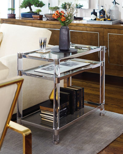 Salon Stainless Steel Accent Table