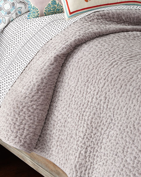 King Bahari Gray Coverlet