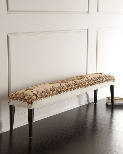 Cream Carmel Bench