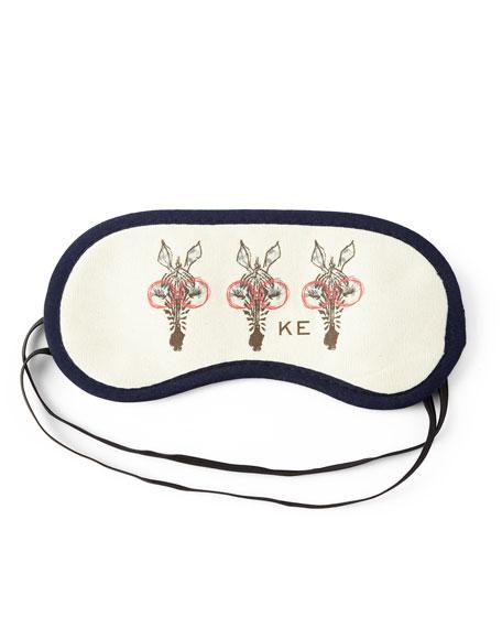 Sleeping Muffy Monogrammed Sleep Mask