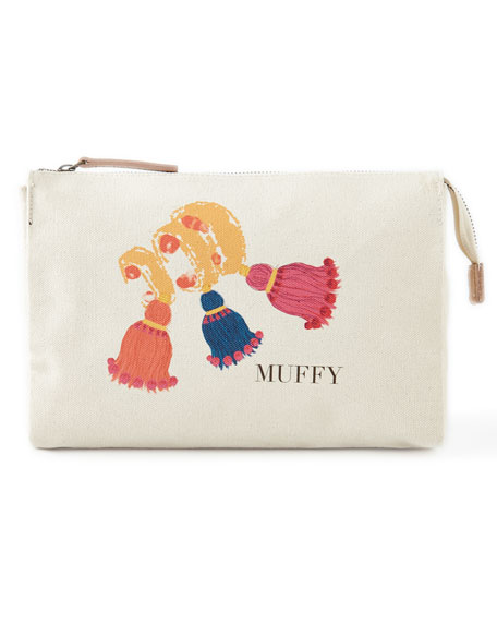 Muffy's Bracelet Large Personalized Cosmetic Bag