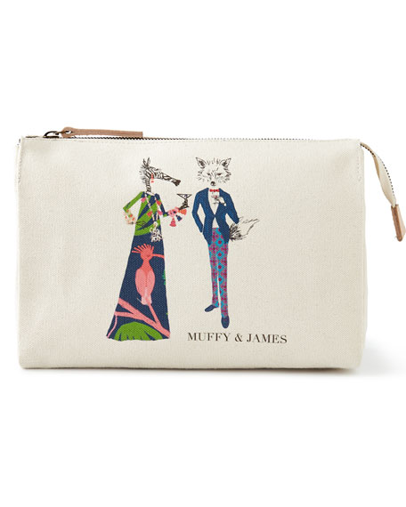 Muffy & James Large Personalized Cosmetic Bag