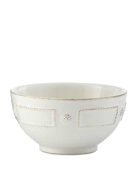 Berry & Thread French Panel Whitewash Cereal/Ice Cream Bowl