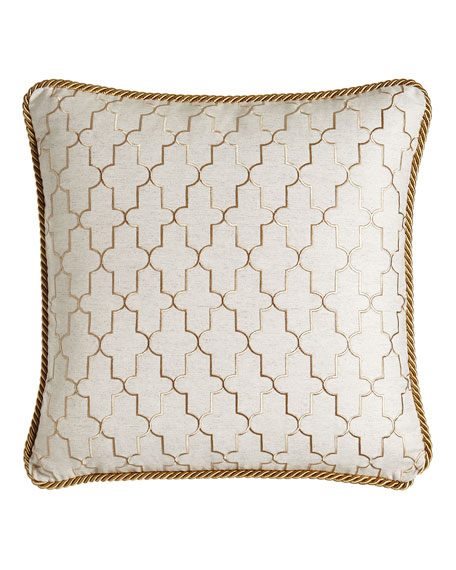 Isabella Collection by Kathy Fielder Adeline Reversible Pillow,