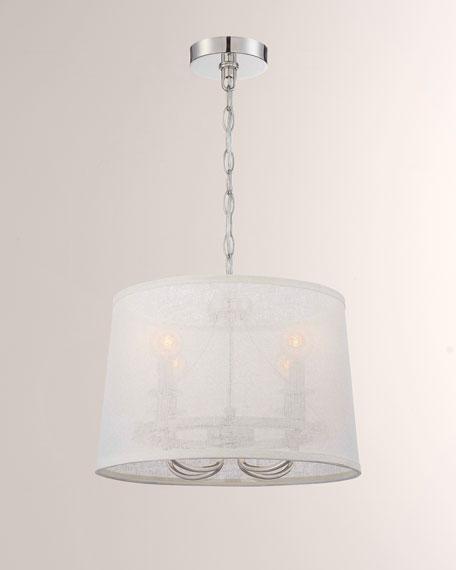 Culver 4-Light Polished-Nickel Chandelier