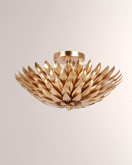Broche 4-Light Golden Ceiling Fixture