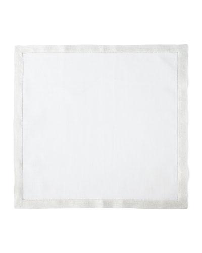 Filetto White/Silver Napkins, Set of 4