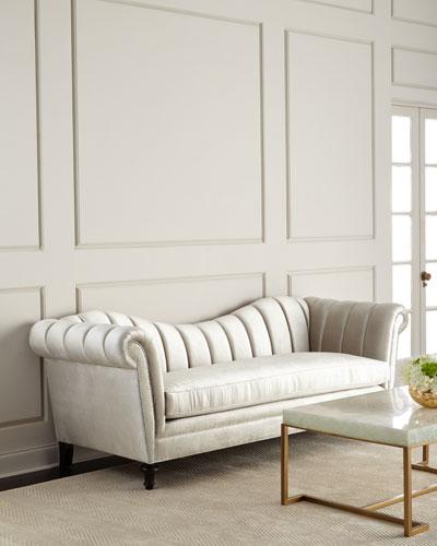 Hathaway Channel-Tufted Sofa