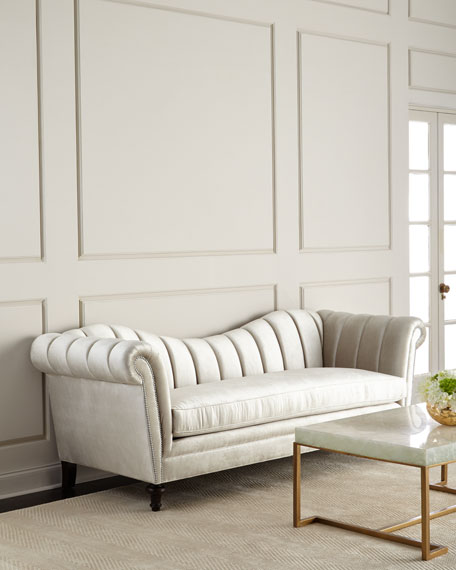 Hathaway Channel-Tufted Sofa