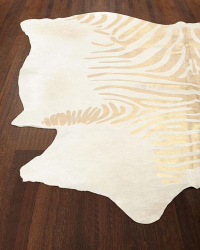 Tali Golden Zebra Rug, 5' x 7'