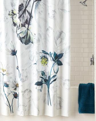 Pomander Noir Shower Curtain