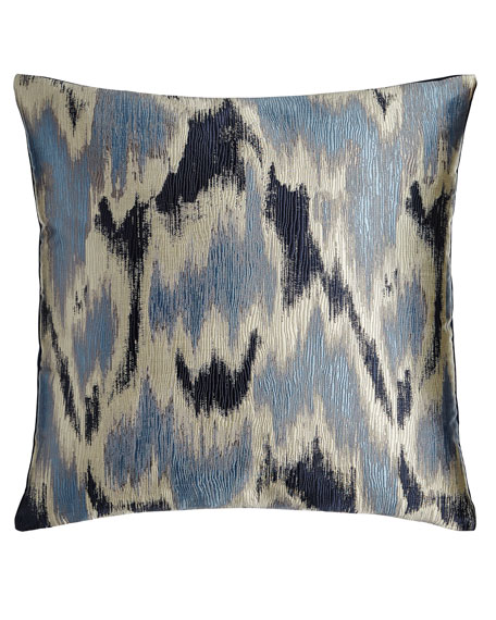 Watermark Blue Pillow