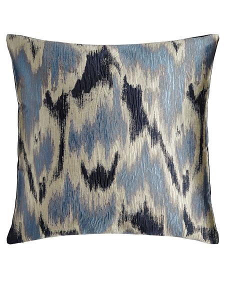Watermark Blue Pillow