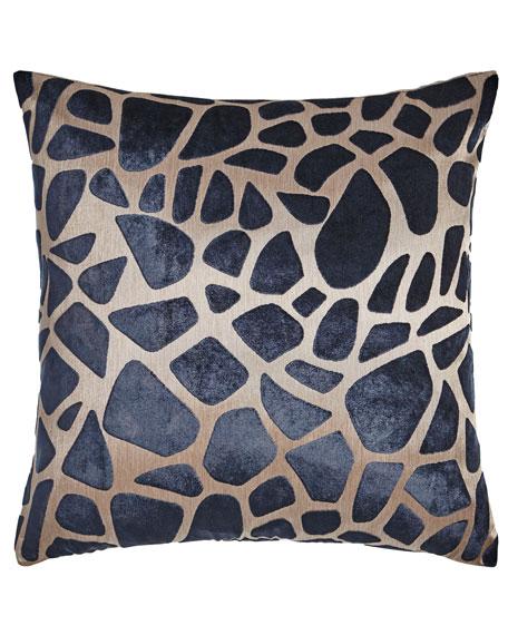 Pebbles Navy Pillow