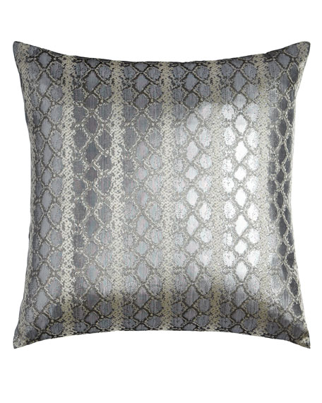 Anaconda Silver Pillow
