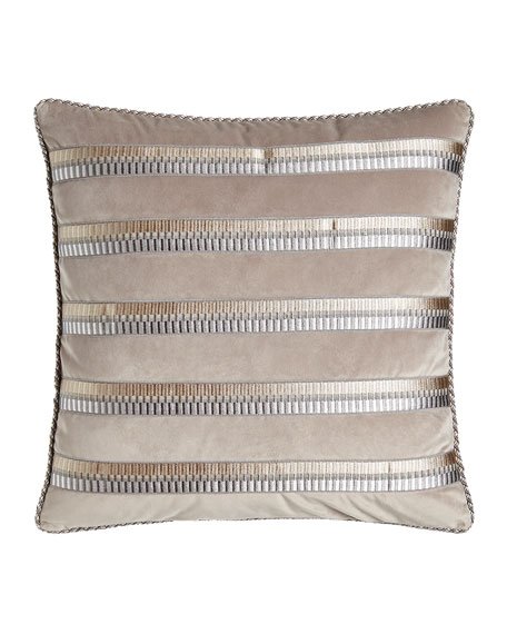 "Coppolino Velvet Pillow, 20""Sq."