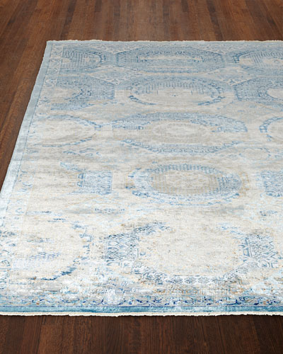 Venetian Blue Fine Rug  10' x 14'
