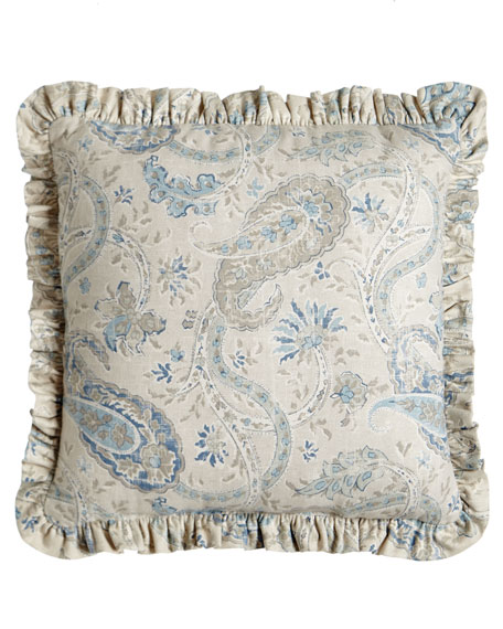 "Ruffled Namaste Pillow, 18""Sq."