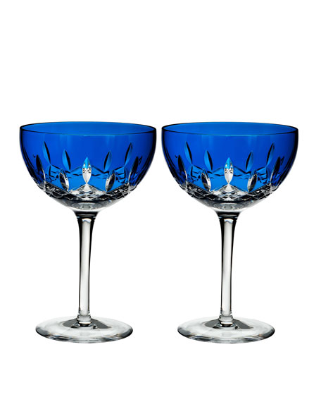 Lismore Pops Cobalt Cocktail Glasses, Set of 2