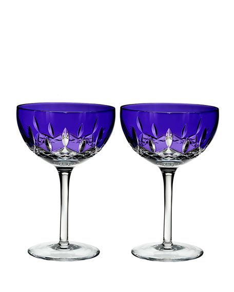 Lismore Pops Purple Cocktail Glasses, Set of 2