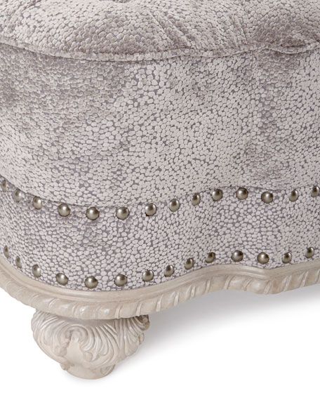 Clay Tufted Ottoman