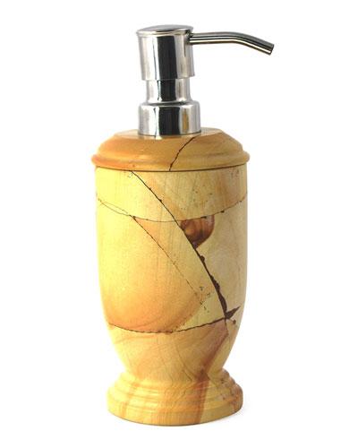 Teak Marble Pump Dispenser