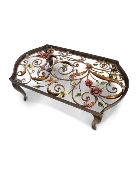 Floral & Scroll Coffee Table