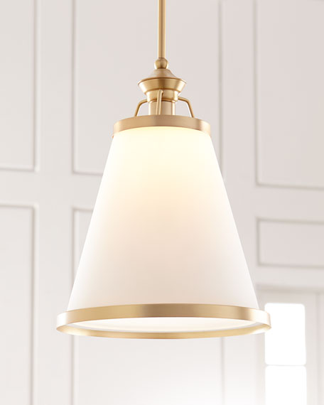 Ashmont 1-Light Warm Brass Pendant