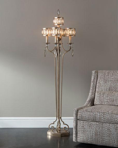 John Richard Collection Marquise Crystal Floor Lamp