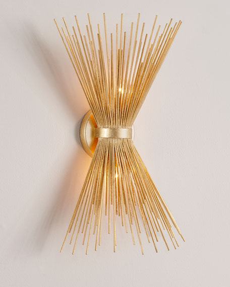 Spray Sconce In Gold Leaf