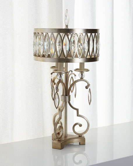 John Richard Collection Marquise Crystal Table Lamp