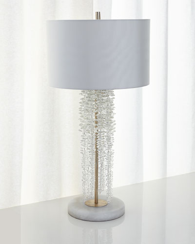 Cascading Crystal Waterfall Table Lamp