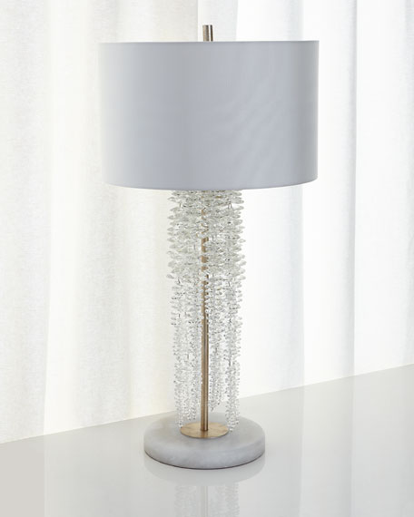 John Richard Collection Cascading Crystal Waterfall Table Lamp