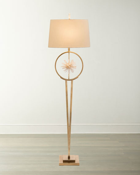 Encircled Quartz Crystal Star Floor Lamp
