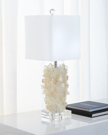 Tiered Calcite Table Lamp