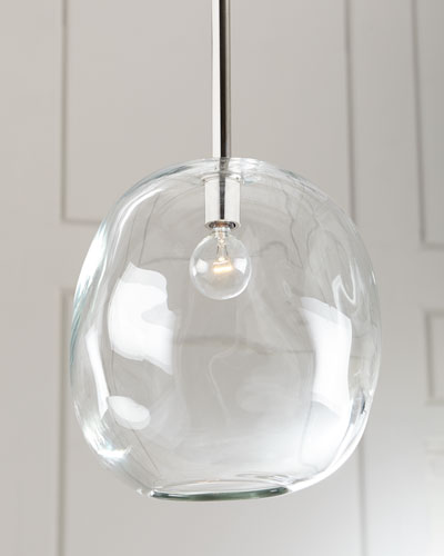 Molten Large 1-Light Clear Pendent