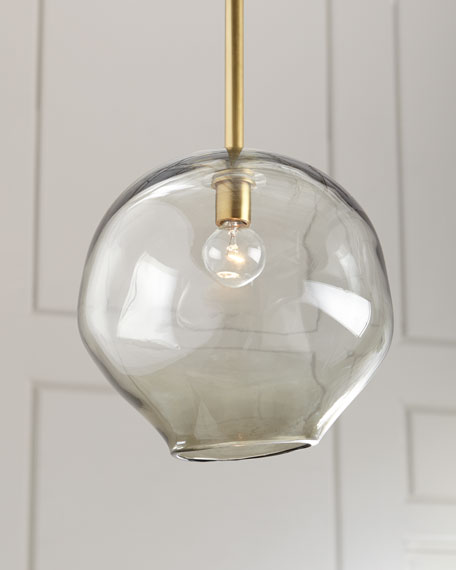 Regina Andrew Design Molten Large 1-Light Smoke Pendant