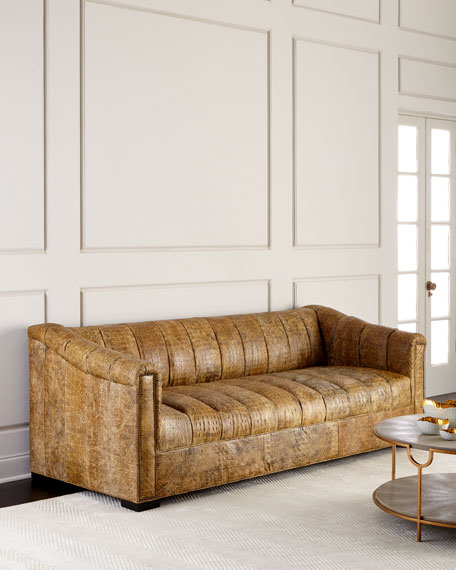 Surrey Channel-Tufted Sofa