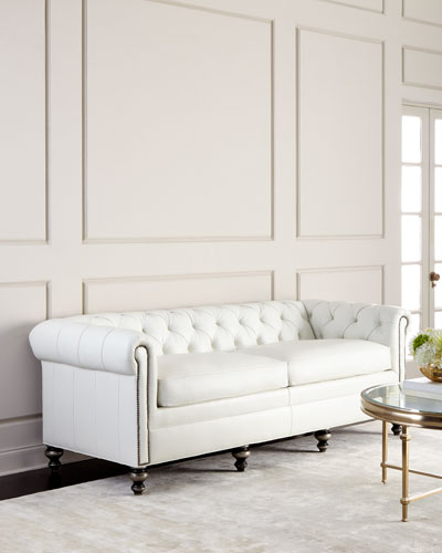 Whitestone Chesterfield Leather Sofa