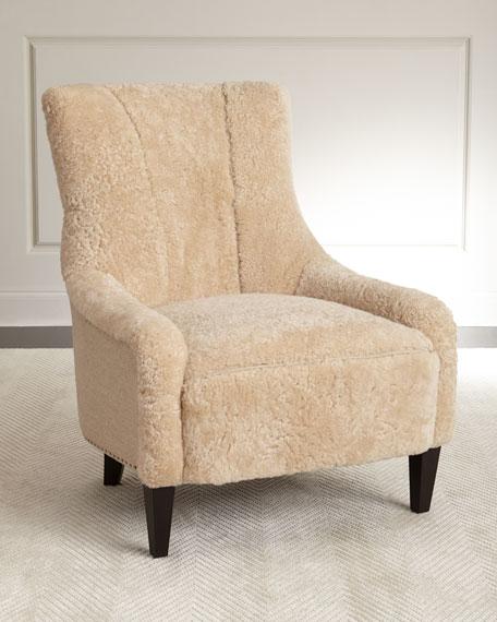 Bernhardt Kane Shearling Chair