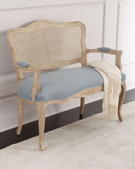 Perfect Azure Cane Settee