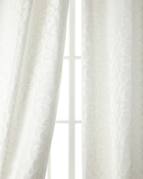 "Two 96""L Gatework Curtains"