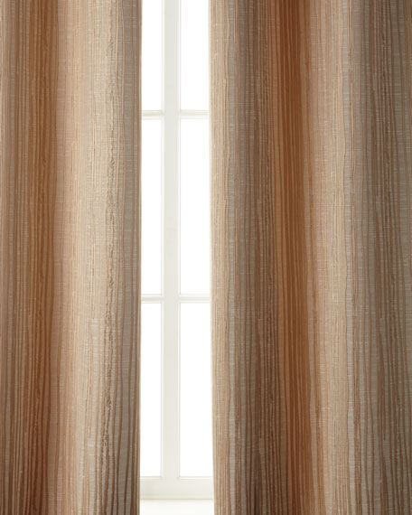 "Two 108""L Abstract Stripe Curtains"