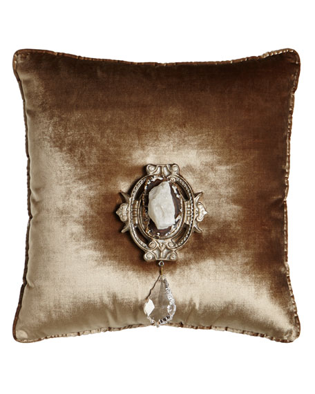 "Chani Lei Joule Medallion Pillow, 20""Sq."