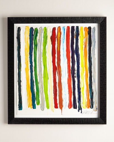 All of My Colors Stripes Giclee on Paper Wall Art