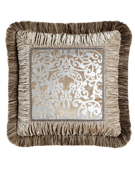 Gretta Pillow with Scroll Center, 18