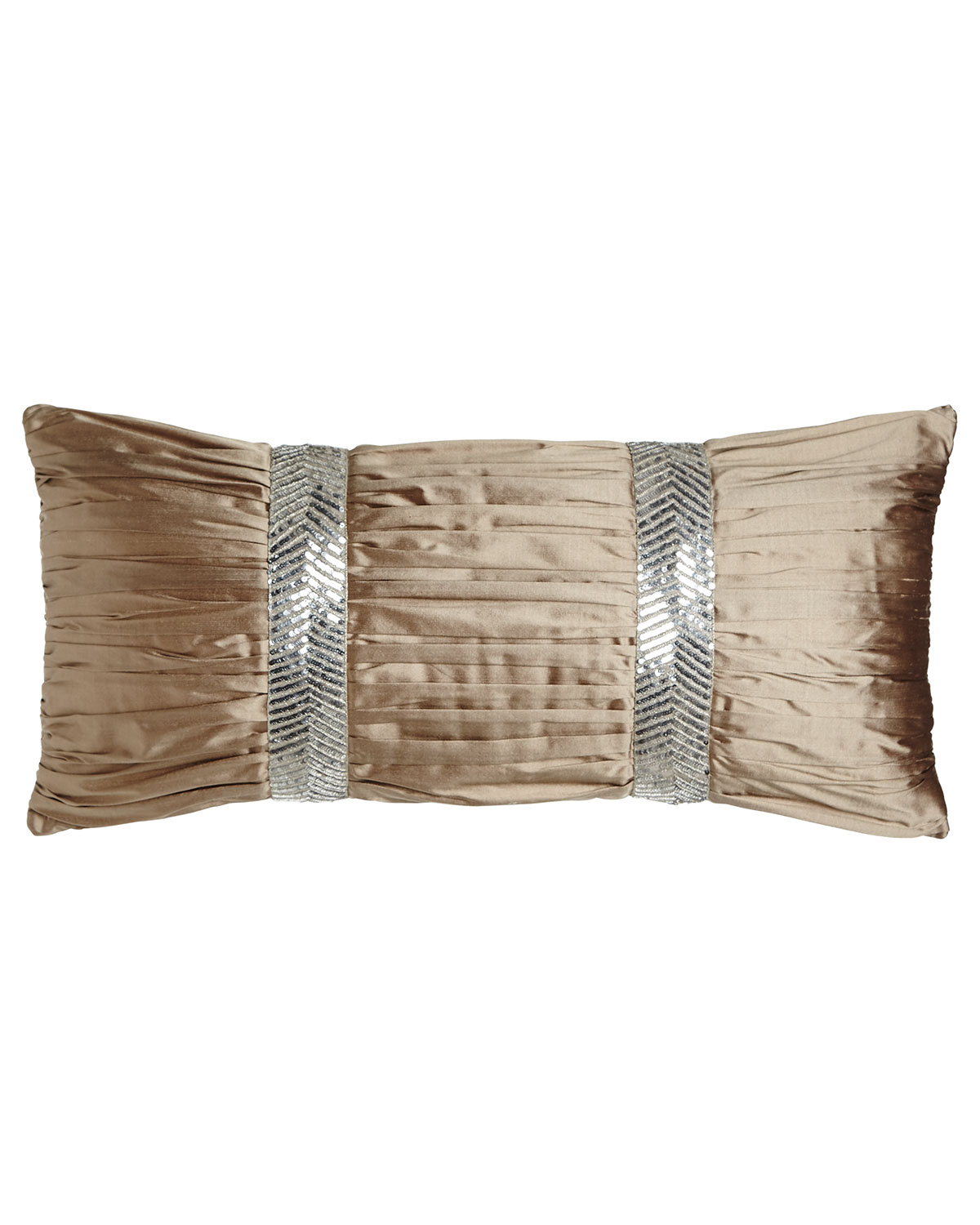 Dian Austin Couture Home Gretta Ruched Silk Pillow 12 Quot X 26 Quot